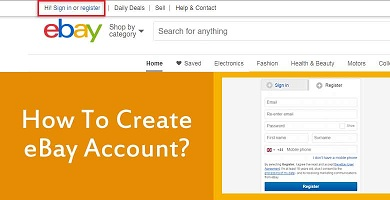 How To Create eBay Account