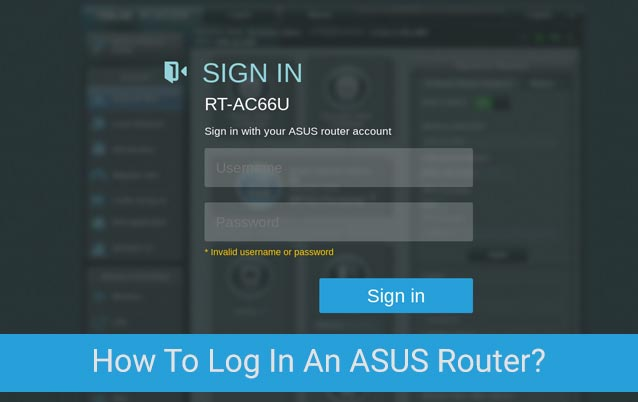How To Log In An ASUS Router