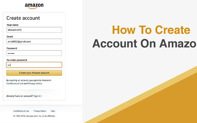 How To Create Account Amazon