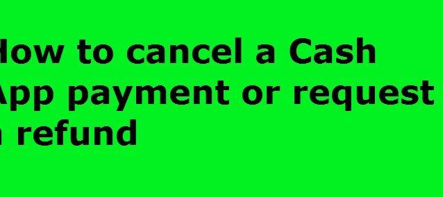 get a refund on cash app