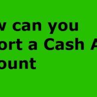cash app account report