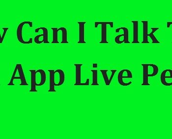 Talk To A Cash App Live Person